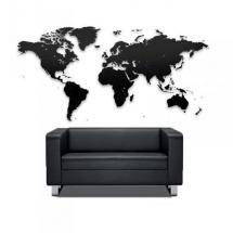 Puzzle mapa světa (100x60) - černá