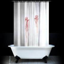 Hororový závěs do koupelny